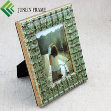 Home bed frame, unique bamboo shape wooden material photo picture frame