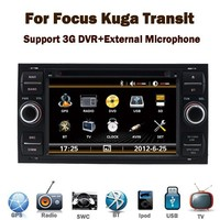 Red or green backlight 2 din car radios with navigation cheap price for Ford Focus Kuga Transit