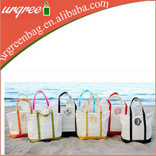Monogram Canvas Tote Beach Bag