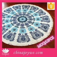 150cm Diameter Round Mandala Beach Throw Tassel ,Turkish Towel Mandala Throw, Round Towel 100% Cotton