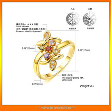 Holiday Best Selling gold plated ring manufacturer