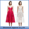 Style Number W286 New Design Spaghetti Strap long Lace Ladies Dress