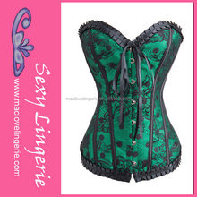 ML4068 Bodysuit Shaper Green Latex Rubber Pictures Of Corset For Parties