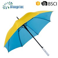 Double Canopy Windproof Fashion New Design Straight Umbrella