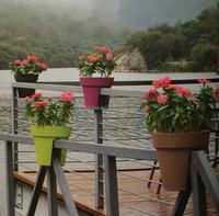 new product for 2015 railing flower pot hanging balcony pots discount planter pots