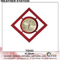Newest Wooden Weather Station Barometer Decor YG422