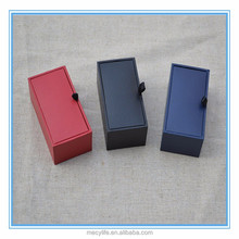 Hot sale high quality cheap Rectangle wholesale cufflink boxes for red blue and black color