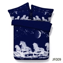 Bed linen Mystical Spirit Horses galloping above the clouds 3d HD comforter