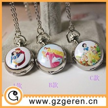 Prince and Princess in happiness high quality enamel toy pocket watch,music pocket watch,custom pocket watch