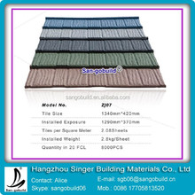 Elegant design vetrified metal roofing tile look qualitative feeling stone coated metal roof tile