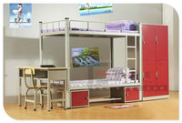 Metal Bunk Bed with Study Table, Metal Bunk Bed with Desk and Drawer