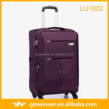 Winmax trolley case universal wheel traveling suitcase luggage purple color