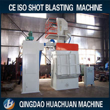 Q32 series steel & rubber belt rust cleaning shot blasting machine