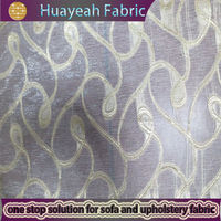 polyester jacquard sheer coloured voile curtains
