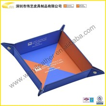 Popular Customized Top Quality Hot Selling New Design leather tray, package tray,packing tray PU Travel Tray