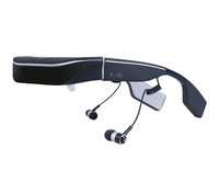 High Resolution 98 Inch Android 1080p 3D Video Glasses Support Bluetooth Keyboard