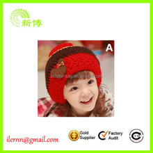 warm cute cotton red baby winter hat with earflaps