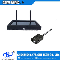 2W long range strong power FPV transmitter and 7' LCD TFT diversity receiver/Monitor for pro 5.8 ghz fpv rc quadcopter