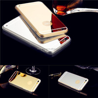 New product mirror tpu mobile phone case for iphone 6 plus