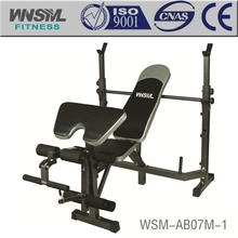 Weight Bench/Dumbbell Bench with Leg Developer Black/Silver