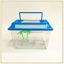 Wholesale mini Plastic aquarium fish tank with Cover and handle