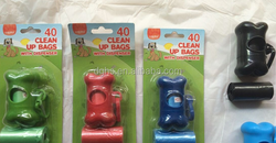 printing grean bone dog poo bags on roll