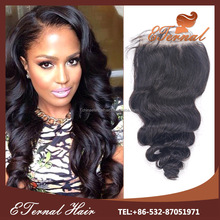 Loose wave virgin silk closure brazilian hair with free part grade 8a weaves with closure