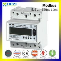 240V 10/60A 60HZ 4 POLE DIN rail single phase energy meter price Multi function electronic meter Modbus or Rs 485