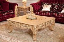 Baroque style furniture handmade furniture gold coffee table