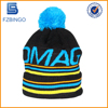 Knitted cheap cool plain 100% cotton winter hats for men