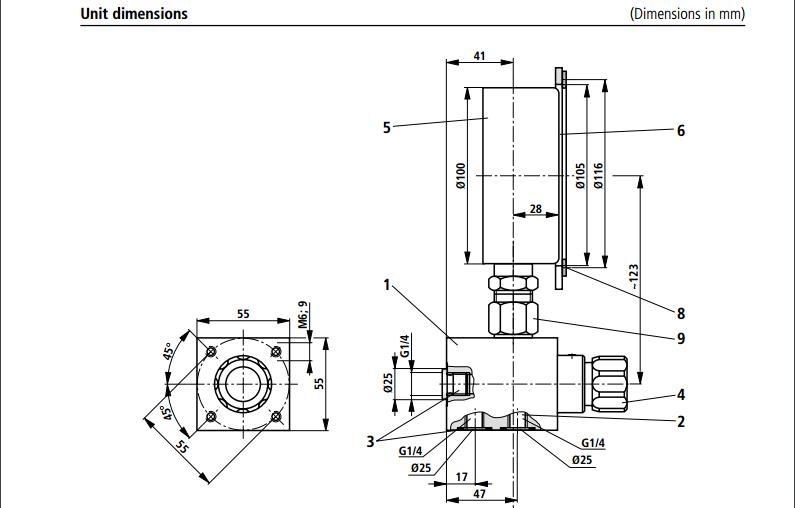rexroth af6ea af6ep af6e pressure gauge switch  isolator valve  view rexroth pressure gauge