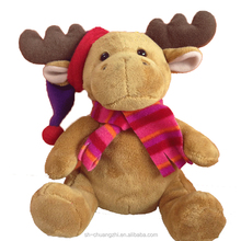 2015 cozy adorable promational factory wholesale customized baby stuffed toys christmas decorative animal deer toys