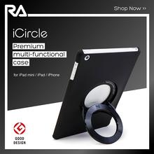 iCircle Air 2 Matt Black, 2015 hot sale premium back cover case stand for iPad Air 2