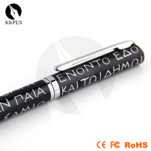 Jiangxin 2014 hot sale golf bulb shape metal pen with laser and led light