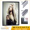 Wall mounted edge lit led advertising black aluminum light box led light picture frame lighting photo frame