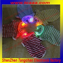 cheap sale Stripe fashion summer led Polo dog wear t-shirt clothes for small dogs