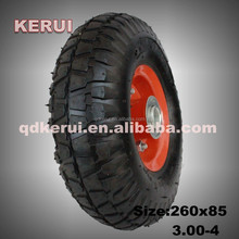 steel rim natural rubber made 260x85 3.00-4 wheel for cart