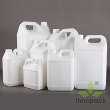 different sizes White HDPE plastic fuel jerry can oil container wholesale