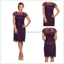 Lace Chiffon Long O-neck Mother of the Bride Dress with Sleeves fashion women dress for party plus size groom mother dresses