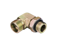 Hydraulic fitting metric thread bite type& 90 degree elbow BSPP thread adjustable stud ends with O-Ring sealing S series