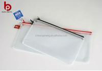 clear pvc mesh zipper bag