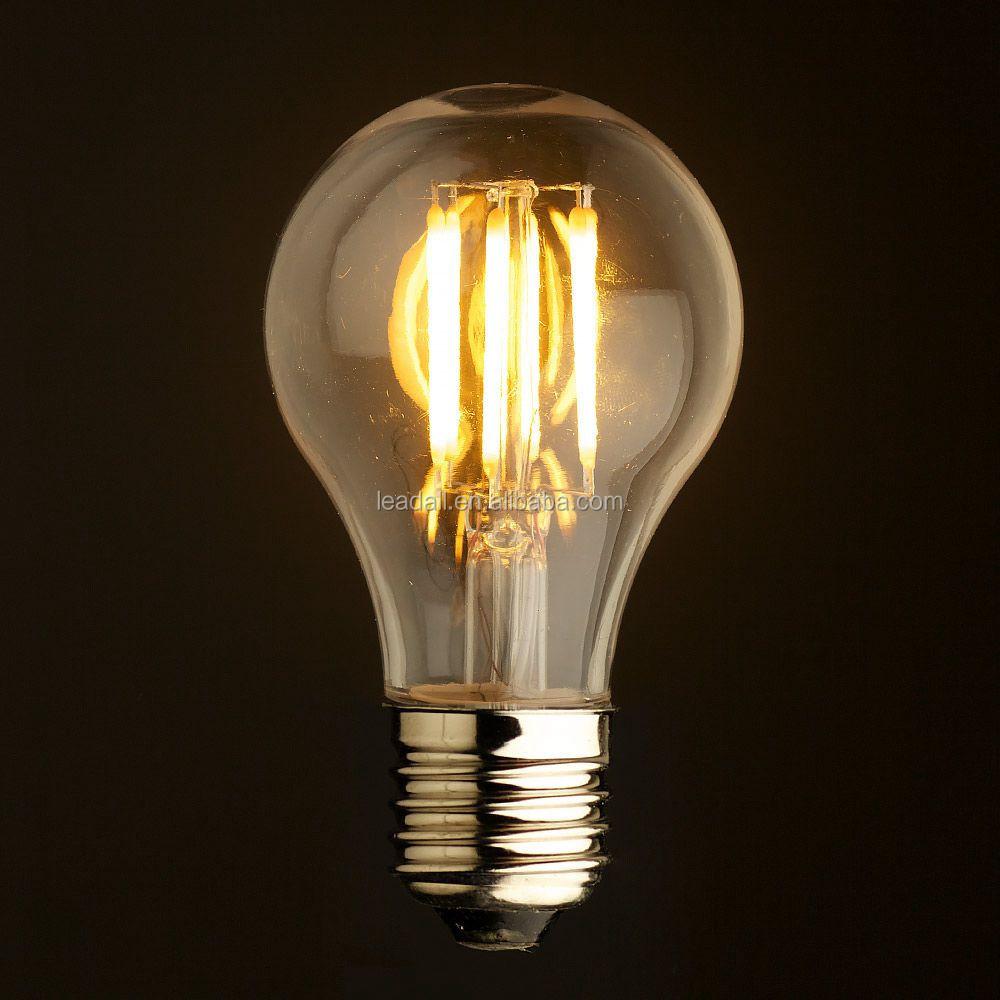 A19 Led Filament Bulb Nostalgic Edison Style 4w To Replace: Globe Edison Style Vintage Led Filament Bulb Super Bright