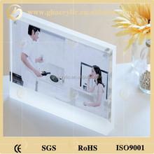 Personalizado retângulo quadro acrílico magnético da foto para o retrato
