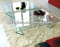 bent Glass coffee table / glass wine table / en12150