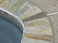 slate coping pool bullnose decoration for your swimming pool