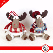 Factory price christmas decorative reindeer ,lovely moose toys for childrens