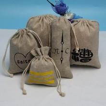 Wedding Natural Jute Shopping Party Bags Printed