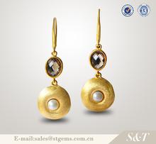 joyería gemas establece nuevo modelo de aretes de oro 2015