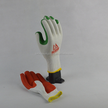rubber coated cotton gloves for safety work