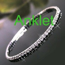1 Row Crystal Tennis Anklet Single Row Anklets